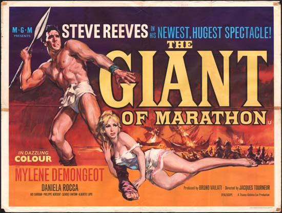 Giant of Marathon [ La battaglia di Maratona ] UK Quad movie poster