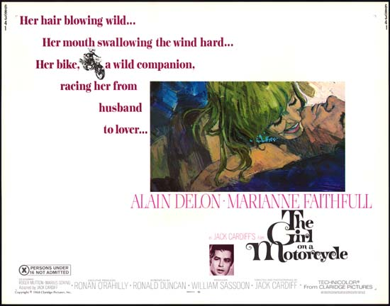 Girl on a Motorcycle, The [ Naked Under Leather ] US Half Sheet movie poster