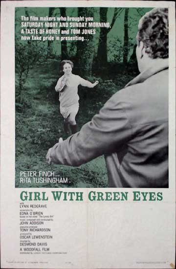Girl With Green Eyes US One Sheet movie poster