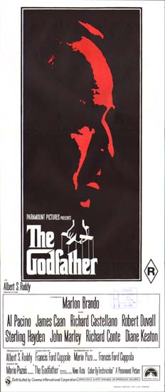 Godfather, The Australian Daybill movie poster