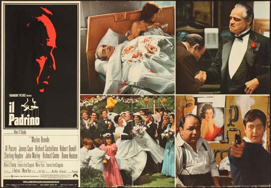 Godfather, The Italian Photobusta movie poster