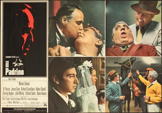 Godfather, The Italian Photobusta movie poster