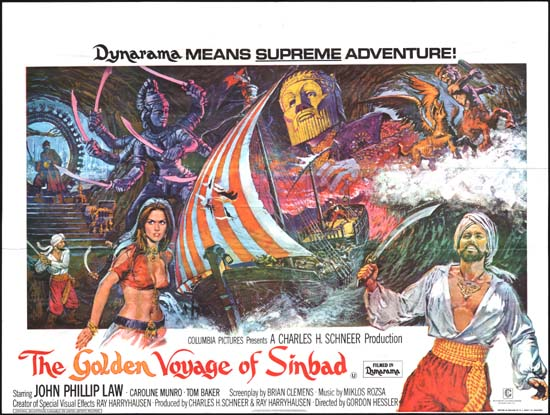 Golden Voyage of Sinbad UK Quad movie poster