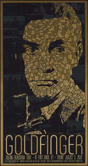 Goldfinger US Mondo special movie poster