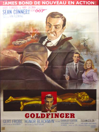 Goldfinger French Grande movie poster