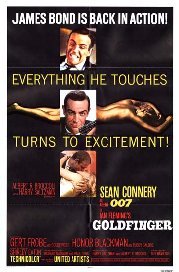 Goldfinger US One Sheet movie poster