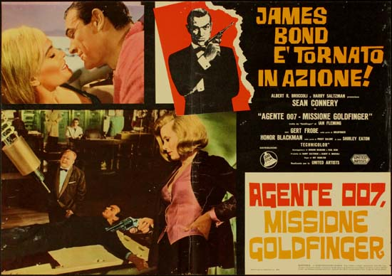 Goldfinger Italian Photobusta movie poster