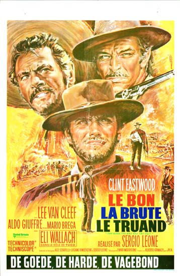 Good Bad and the Ugly, The [ Il Buono il Brutto il Cattivo ] Belgian movie poster