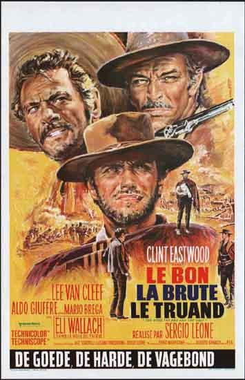Good Bad and the Ugly, The [ Il Buono il Brutto il Cattivo ] Belgian movie poster