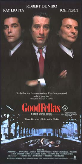 Goodfellas Australian Daybill movie poster