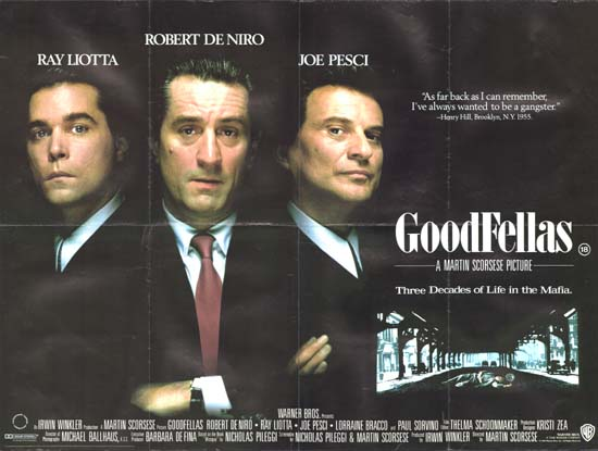 Goodfellas UK Quad movie poster
