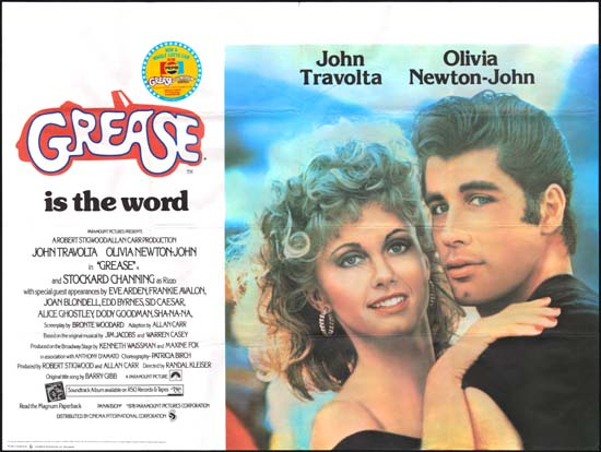 Grease UK Quad movie poster