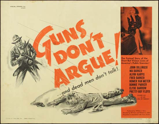 Guns Dont Argue US Half Sheet movie poster