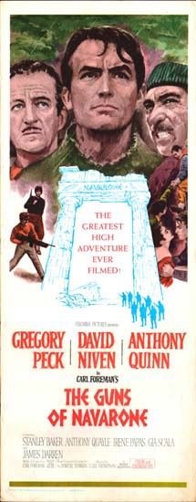 Guns of Navarone, The US Insert movie poster