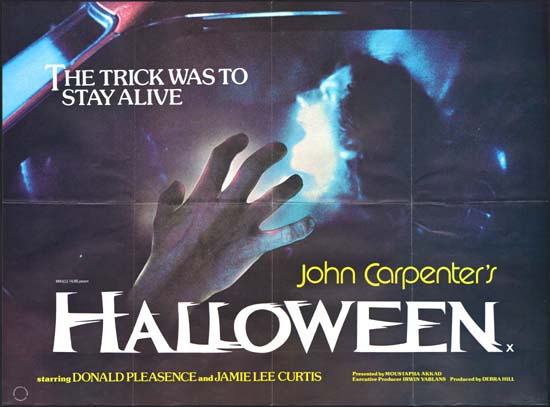 Halloween UK Quad movie poster