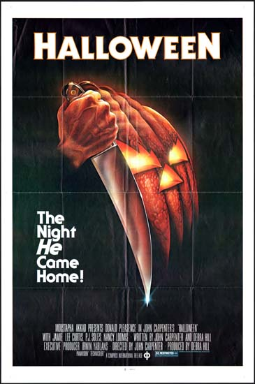 Halloween US One Sheet blue ratings movie poster