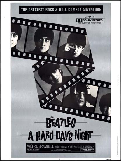 Hard Days Night, A US 30x40 movie poster