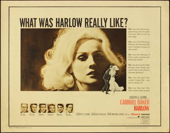 Harlow US Half Sheet movie poster
