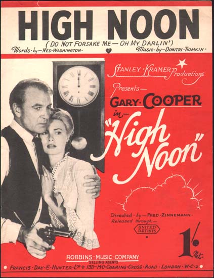 High Noon UK Sheet Music