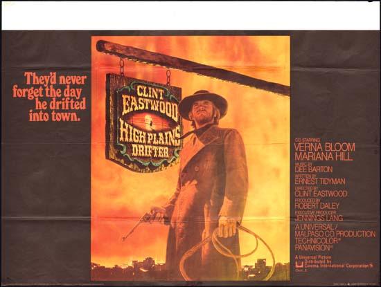 High Plains Drifter UK Quad movie poster