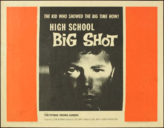 High School Big Shot [ The Young Sinners ] US Half Sheet movie poster