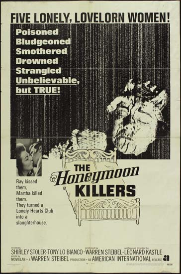 Honeymoon Killers, The US One Sheet international movie poster