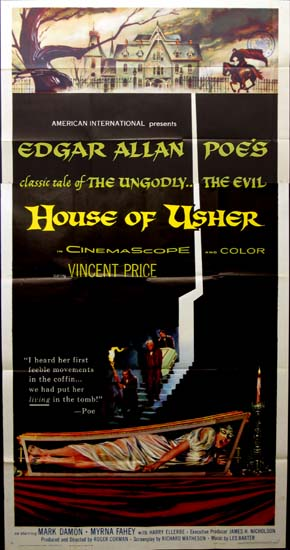 House of Usher [ Fall of the House of Usher ] US Three Sheet movie poster