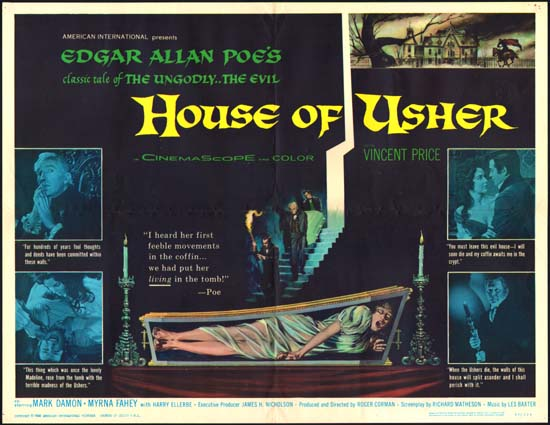 House of Usher [ Fall of the House of Usher ] US Half Sheet movie poster
