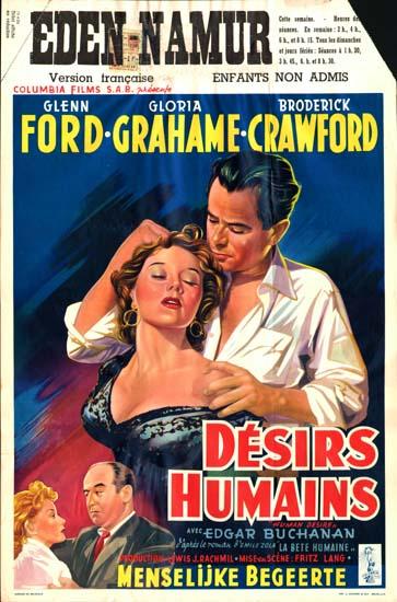 Human Desire Belgian movie poster