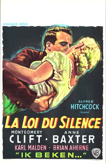 I Confess Belgian movie poster
