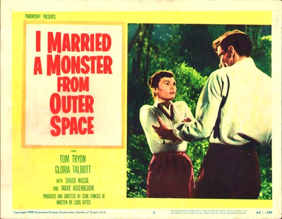 I Married a Monster from Outer Space US Lobby Card number 2