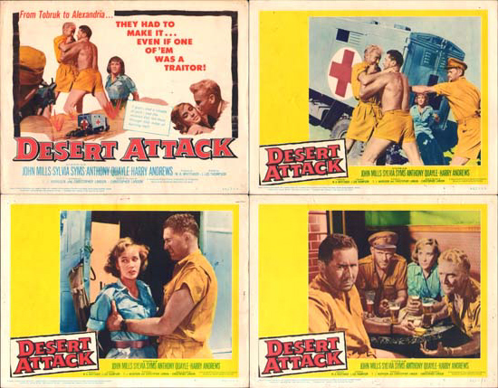 Ice Cold in Alex [ Desert Attack ] US Lobby Card Set of 8