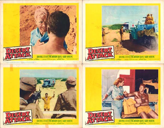 Image 2 of Ice Cold in Alex [ Desert Attack ] US Lobby Card Set of 8
