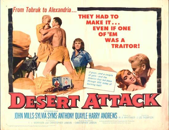 Ice Cold in Alex [ Desert Attack ] US Half Sheet movie poster