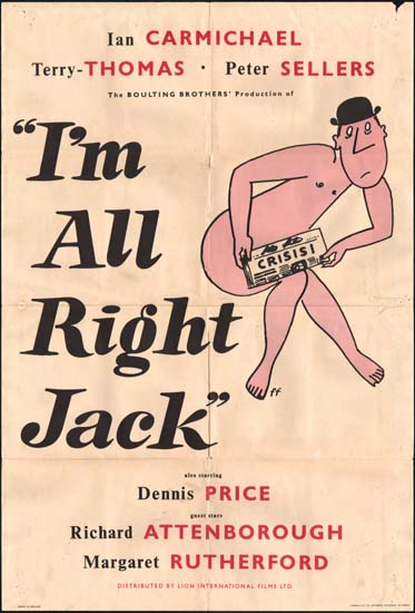 Im All Right Jack UK One Sheet movie poster