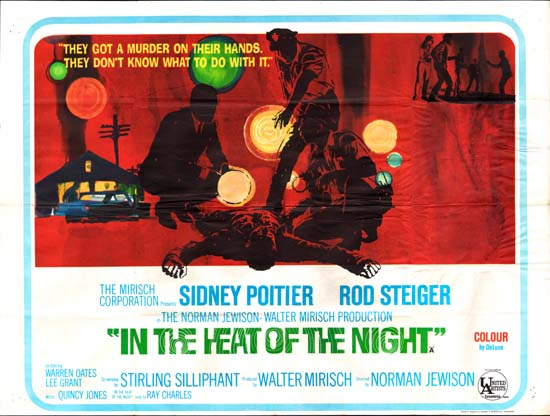 In the Heat of the Night UK Quad movie poster