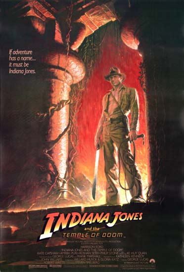 Indiana Jones and the Temple of Doom US One Sheet style A movie poster
