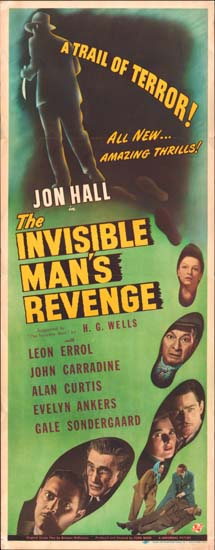 Invisible Mans Revenge, The US Insert movie poster