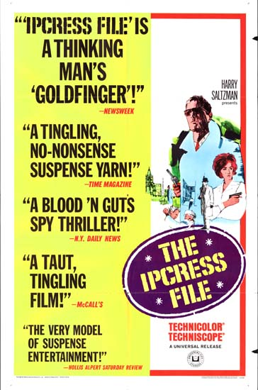 Ipcress File, The US One Sheet new art style movie poster