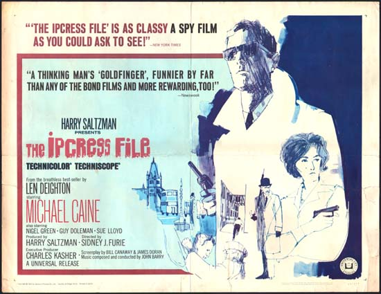 Ipcress File, The US Half Sheet movie poster