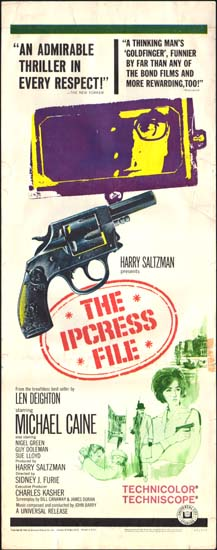 Ipcress File, The US Insert movie poster
