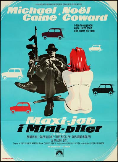 Italian Job, The Danish One Sheet movie poster