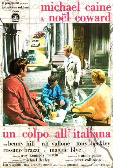 Italian Job, The Italian Photobusta movie poster