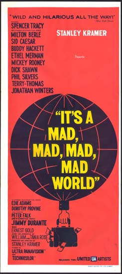 Its a Mad Mad Mad Mad World Australian Daybill movie poster