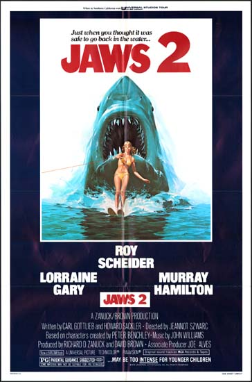 Jaws 2 US One Sheet movie poster