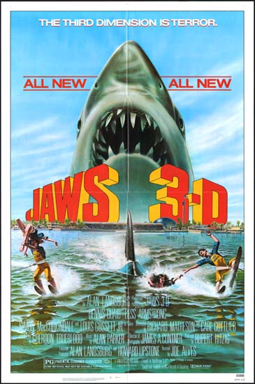 Jaws 3D US One Sheet movie poster