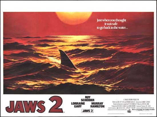 Jaws 2 UK Quad movie poster