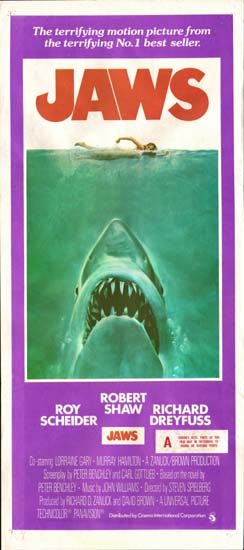 Jaws Australian Daybill movie poster