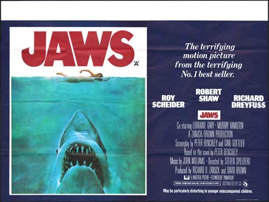 Jaws UK Quad movie poster