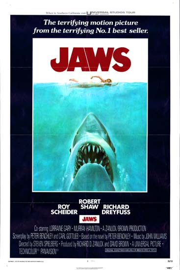 Jaws US One Sheet movie poster